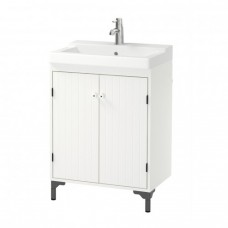 خزانة حوض الغسيل مع بابين, أبيض(خزانه+ حوض+ ارجل عدد 2)