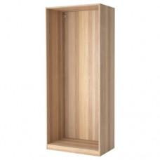 إطار خزانة الملابس لون خشبي 100x58x236 سم