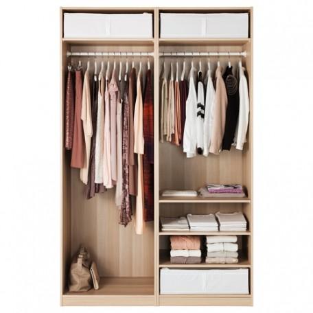 خزانة ملابس لون خشبي