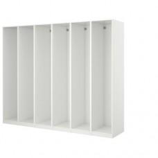 6  إطارات لخزانة الملابس لون أبيض