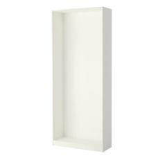 إطار خزانة الملابس لون أبيض 100x35x236 سم