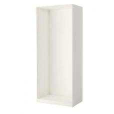 إطار خزانة الملابس لون أبيض 100x58x236 سم
