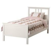 سرير خشب مفرد لون ابيض 90x200 سم