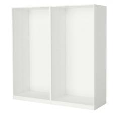 إطارين لخزانة الملابس لون أبيض 200x58x201 سم