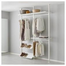 وحدة لتخزين الملابس لون أبيض