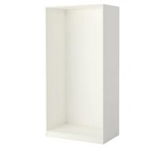 إطار خزانة الملابس لون أبيض 100x58x201 سم