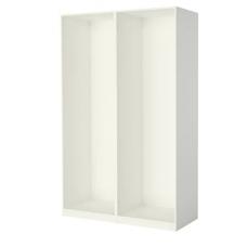 إطارين لخزانة الملابس لون أبيض 150x58x236 سم