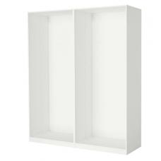 إطارين لخزانة الملابس لون أبيض