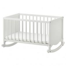 سرير أطفال مع فرشة إسفنج أبيض  66x84 سم