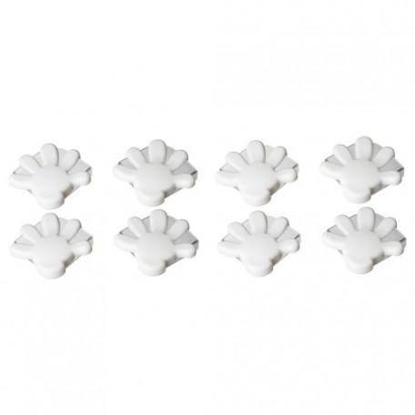 حامي زاوية لون أبيض (8قطع)
