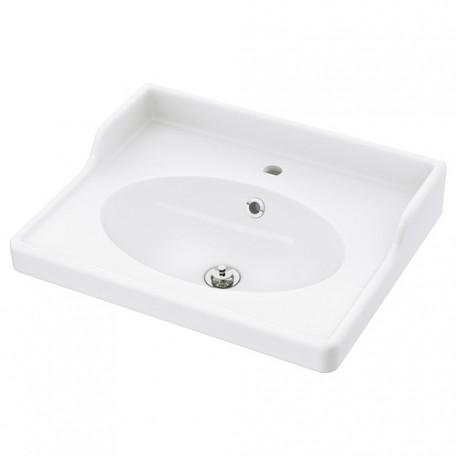 حوض غسيل مفرد أبيض