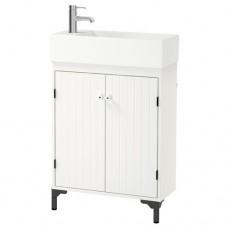 خزانة حوض الغسيل مع بابين أبيض(خزانه+ حوض+ ارجل عدد 2)
