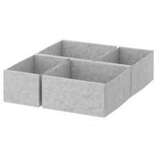 صندوق، مجموعة من 4 رمادي فاتح 50x58 سم