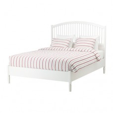 تخت خشب لون أبيض 140*200 سم