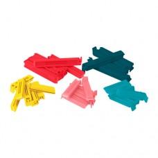 مشبك لاغلاق الاكياس 30 قطعه  ألوان متعددة أحجام متنوعة