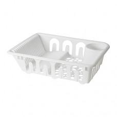 مجفف صحون بلاستيك لون أبيض