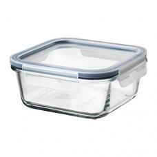 حافظة طعام بغطاء مربع زجاج 600 ملم