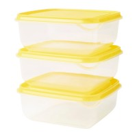علب لحفظ الطعام  3 علب لون اصفر