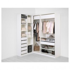 خزانة ملابس زاوية لون أبيض