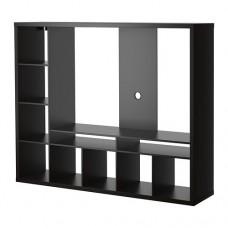 وحدة تخزين تلفزيون لون أسود - بني