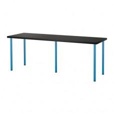 طاولة مكتب أسود - بني وأزرق حجم 200x60 سم