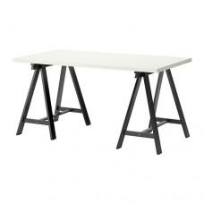 طاولة مكتب لون ابيض واسود 150x75 سم
