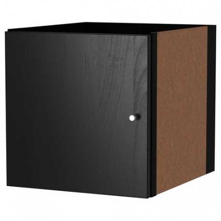 باب خزانه لمكتبه مفتوحه لون اسود حجم 33x33 سم