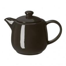 إبريق الشاي لون اوف وايت او رمادي غامق (بامكان شراء كل المجموعه تشمل صحون/كاسات/وفناجين)