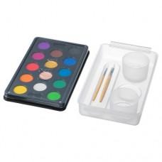 علبة ألوان مائية ألوان متنوعة