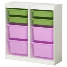 خزانه + 8 صناديق(4 صغار+4 كبار) بالوان مختلفه
