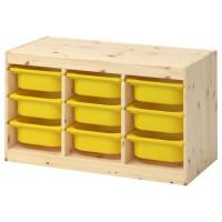 وحدة تخزين تشمل 9 صناديق صغيره لون اصفر او اخضر او أبيض