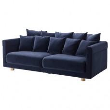 صوفا بثلاثة مقاعد لون أزرق داكن