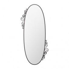مرآة بيضاوية لون اسود 70x150 سم