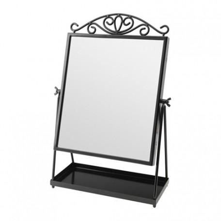 مرآة طاولة لون أسود