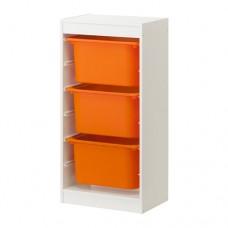 تشكيلة تخزين مع صناديق لون أبيض أو زهري أو برتقالي