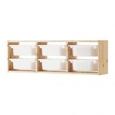 وحدات تخزين جداري خشب صنوبر 93x21x30 سم