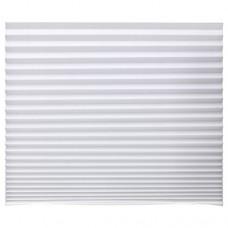 ستارة معتمة بطيات لون أبيض 90x190 سم