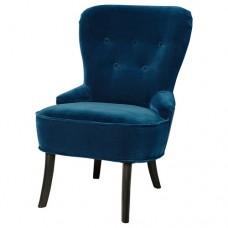 كرسي بذراعين لون أخضر-أزرق داكن