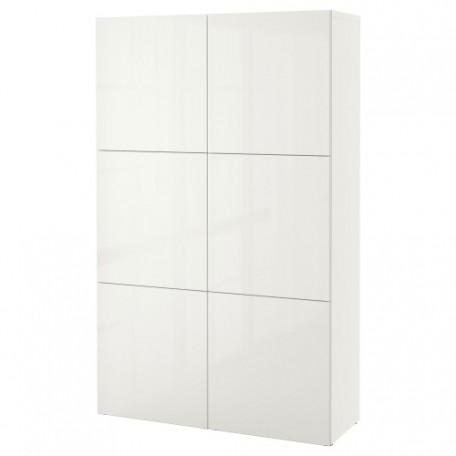 تشكيلة تخزين مع أبواب لون أبيض/شديد اللمعان