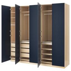خزانة ملابس لون أسود خشبي أزرق