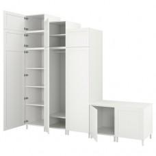 خزانة ملابس 9 أبواب لون أبيض
