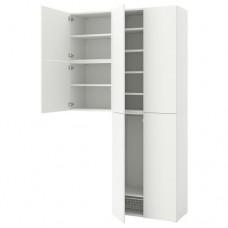 خزانة ملابس  6 أبواب لون أبيض
