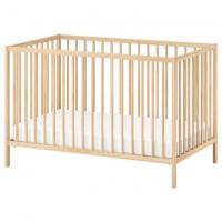 سرير بيبي من خشب الزان 60x120 سم