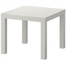 طاولة جانبية لون أبيض  55x55 سم
