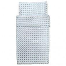 غطاء اللحاف/كيس وسادة لسرير أطفال نقش التوت البري