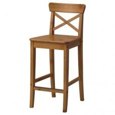 كرسي بار  لون خشبي  63 سم