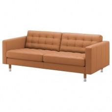 صوفا 3 مقعد, لون بني-ذهبي/أرجل معدن