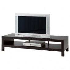 طاولة تلفاز لون بني محروق على اسود فنجا