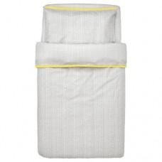 طقم بياضات سرير أطفال ذو 3 قطع لون رمادي