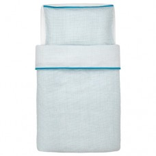 غطاء اللحاف/كيس وسادة لسرير أطفال لون فيروزي